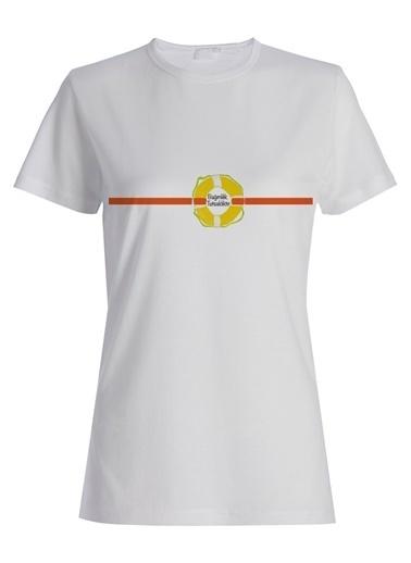 Yeşilay Burcu Çetinkaya Tişört Beyaz